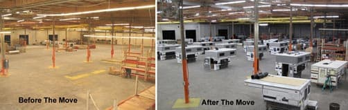 FWC factory move before and after
