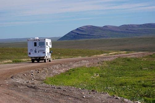 Camper on the Dalton Highway