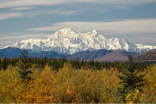 Denali's Mount McKinley on a clear day