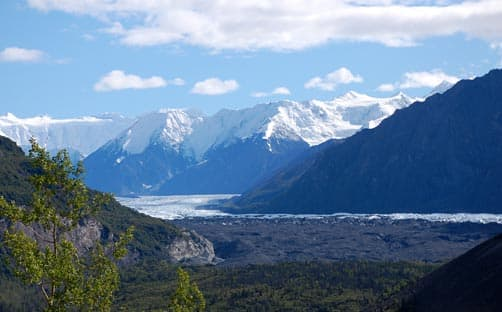 View of Matanuska Glacier and Chugach Mountains from Glenn Highway (taken by Kris Valencia)
