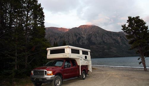 Campground along Tutshi Lake, South Klondike Highway