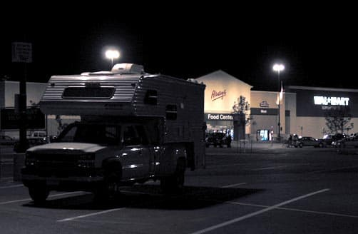 Boondocking at a Walmart in South Dakota