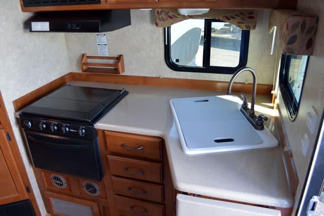 ECC995 INT Kitchen2 Eagle Cap 995 Review Truck Camper Magazine. Big Country RV  Kitchen ...