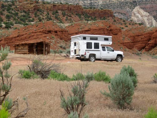 Pop-Up camper in Dinosaur National Monument