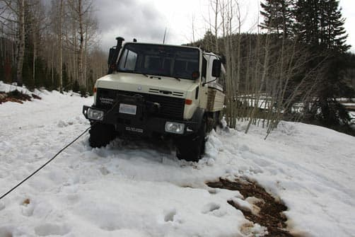 unfortunate encounter that required winching