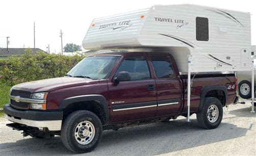 Travel Lite 770 on a short bed truck