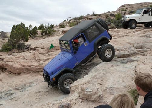 Wipe Out Hill, Utah at the Easter Jeep Safari