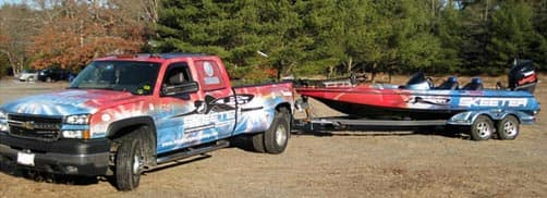 Mark Burgess Chevy truck and Skeeter boat