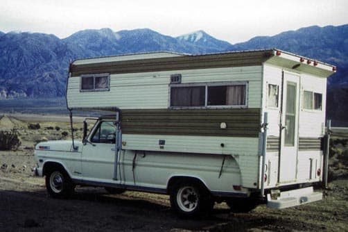 One of the first photos with Jack's camper