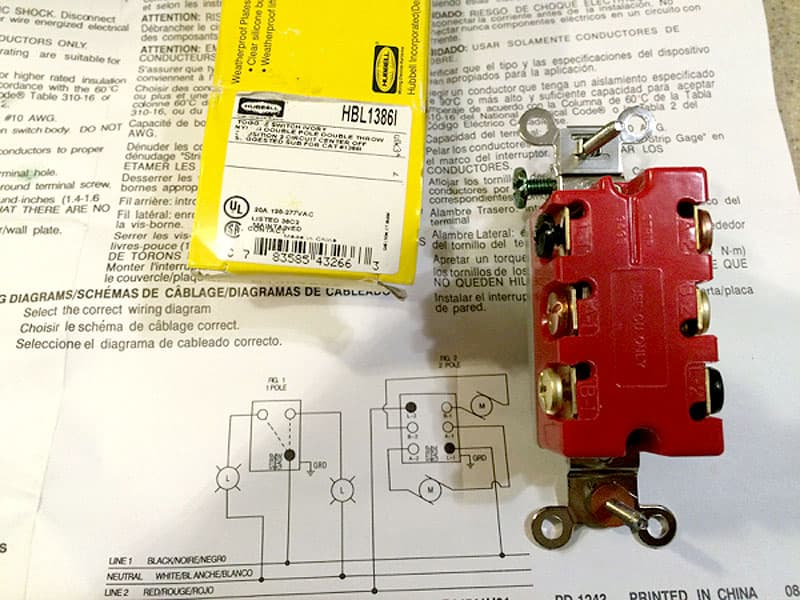 Polarity switch directions