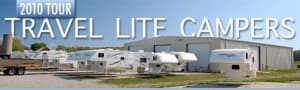 Travel Lite factory building campers