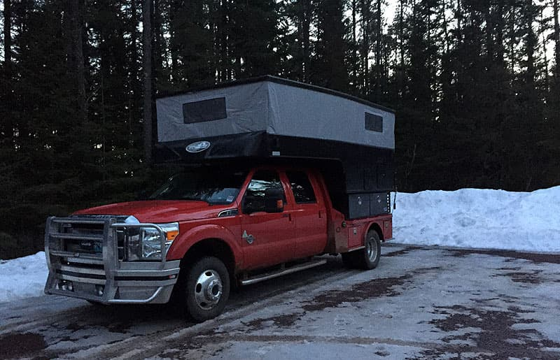 trailhead camping, getting up early for a hike