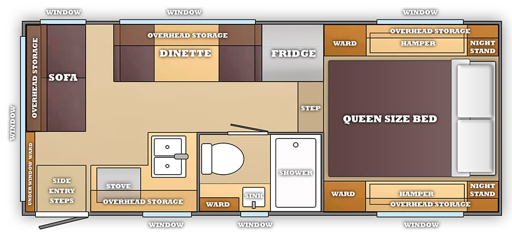 A Dream Camper Floor Plan Truck Camper Magazine