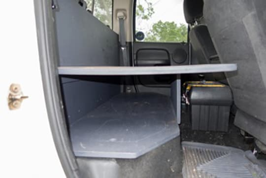 Back Seat Storage Solutions Truck Camper Magazine