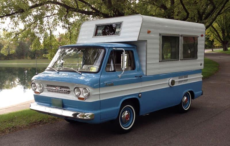 Vintage Rampside truck camper