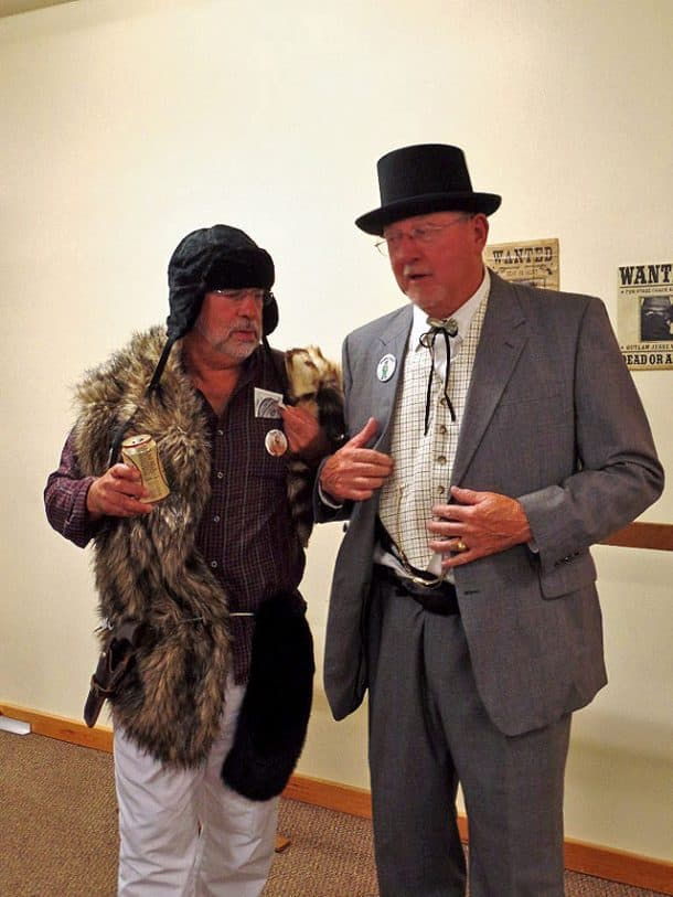 Fur Trapper and Montgomery Money, Land Investor, photo taken by Gus Postreich